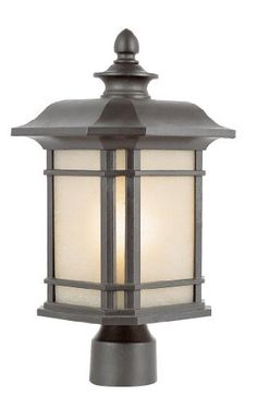 Trans Globe Lighting 5823 Rt 13 Inch High Post Top Light Rust By Trans