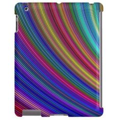 Spectrum $77.30 *** Colorful curved stripe design - iPad case
