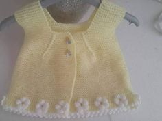 Yellow Baby Vest//Hand Knitted Baby Vest//Newborn Vest//Knitted Baby Vest //Hand Knitted Baby Sweater In Soft//Children Vest//Baby Clothes Baby Knitting Patterns, Baby Patterns, Girls Sweaters, Baby Sweaters, Crochet Baby Booties Tutorial, Braidless Crochet, Baby Vest, Baby Yellow, Vest Pattern