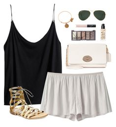"""""""neutral"""" by classically-preppy ❤ liked on Polyvore featuring H&M, VPL, Steve Madden, Coach, Ray-Ban, NARS Cosmetics and Alex and Ani"""