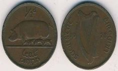 On this page, we will tell you all about the Irish Half Penny minted between the years Identifying Coins, Irish Free State, Penny Values, Old Irish, Coin Design, Penny Coin, Coin Values, Coin Grading, Metal Detecting