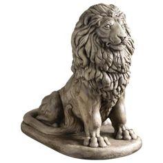 large sitting lion