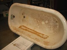 Dirty clawfoot tub that needs restoration!