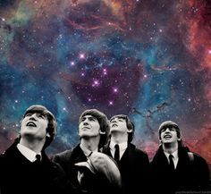 #space #universe #beatles #collage #cosmos #psychedelic