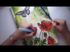 Art journal page for M&M Challenge #1 'Find a way' - YouTube
