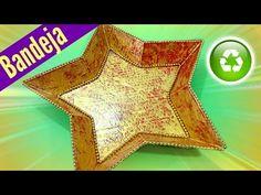 Manualidades Navidad: Bandeja estrella,. Star tray. - YouTube