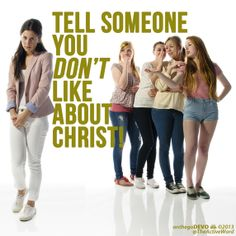 Tell someone you don't like about Christ! Listen to the #OnTheGoDevo for today--> http://ccftl.org/1goqsem