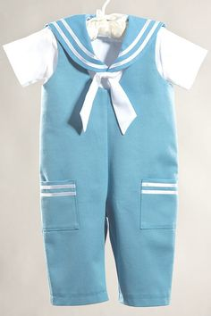 Sailor baby boy suit baptism / christening baby boy by Graccia