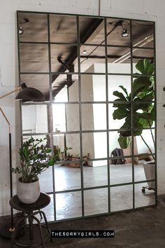 The Sorry Girls, Industrial Mirrors, Industrial Bedroom Decor, Design Industrial, Diy Table Top, Hacks Diy, Interior Modern, Modern Decor, House Design