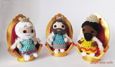 Los tres Reyes Magos The Three Wise Men Made with Natura Just Cotton
