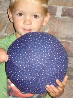 """""""Blue with White Stars"""" Balloon Ball w/Drawstring Pouch by KerrysCrafts, $6.50"""