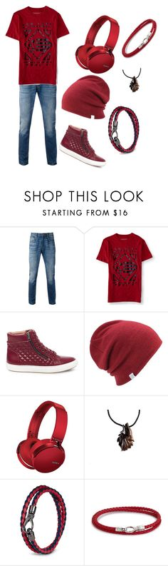 """Mitch"" by jaswolflover16 ❤ liked on Polyvore featuring Levi's, Aéropostale, Steve Madden, Coal, Sony, Tod's, HUGO, men's fashion and menswear"
