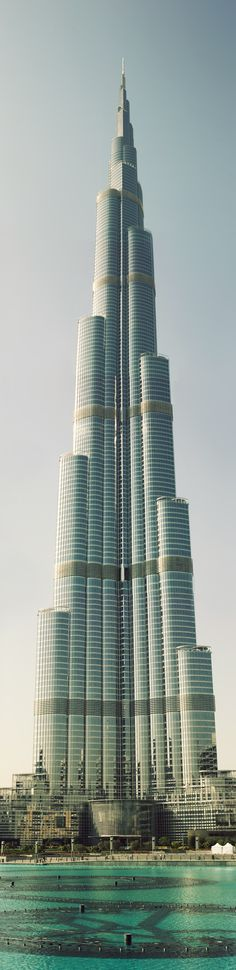 The Burj Khalifa in Dubai, UAE - The Tallest Building in The World at 2,722 feet (830 meters) with an astonishing 163 floors; this skyscraper was completed in 2010 - Long, Tall, Vertical Pins.
