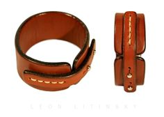 Leather Bracelet. English Bridal Leather. By Leon Litinsky.-SR