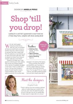 Shope 'Til You Drop (Angela Poole) From The World of Cross Stitching N°244 August 2016 1 of 5
