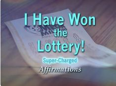☑🔼💪🆗💯🍌🚓❤🌹 Prosperity Affirmations, Money Affirmations, Positive Affirmations, Lottery Winner, Winning The Lottery, Law Of Attraction Money, Law Of Attraction Quotes, Positive Thoughts, Positive Quotes