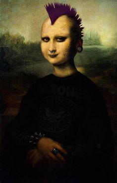 punked out Mona Lisa Le Sourire De Mona Lisa, Arte Punk, La Madone, Mona Lisa Parody, Mona Lisa Smile, Italian Artist, Oeuvre D'art, Les Oeuvres, Street Art