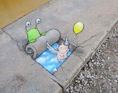 adorable-chalk-drawn-creatures-sidewalk-david-zinn-8: