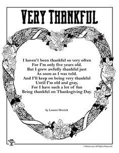 Very Thankful Poem | Woo! Jr. Kids Activities : Children's Publishing