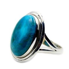 'Blue Lagoon' Sterling Silver Chrysocolla Ring, Size 7  Price : $41.75 http://www.silverplazajewelry.com/Blue-Lagoon-Sterling-Silver-Chrysocolla/dp/B00JDNC5G2