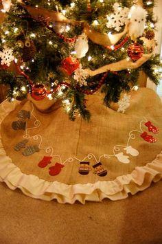 15 ideas para hacer un pie de arbol navideño08