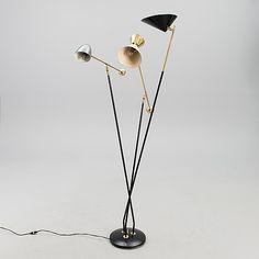 ROBERT MATHIEU, LATTIAVALAISIN, Ranska, 1950-luku. - Bukowskis Mid Century Lighting, Bukowski, Floor Lamp, Lightning, Mid-century Modern, Auction, Thunder, French, Vintage