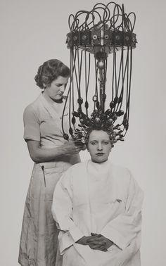 .First hair perm machine.