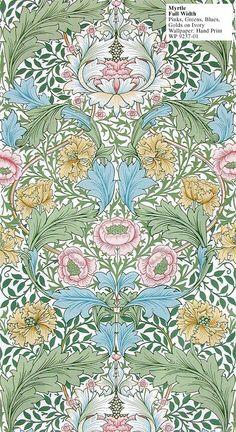 Wallpaper, Myrtle, William Morris, 1875