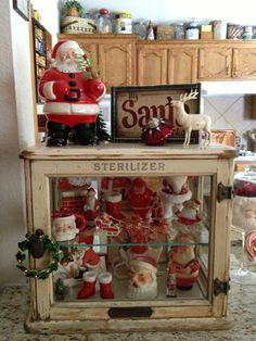 Some of my sweet Santa's. Vintage Santa Collection