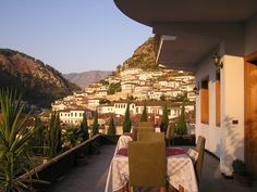 Berat, beautiful view from the Rezidenca Desaret
