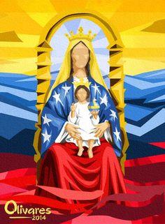 Arte con la bandera: Nuestra Virgen de Coromoto @Olivarescfc pic.twitter.com/ELAOAtmrxX 15:34