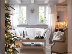 A French Home Decorated For Christmas