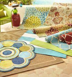 Love these cute,  fun rugs #pier1outdoors #ad