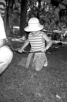 Worm grunting at the 1989 Florida Folklife Festival. | Florida Memory