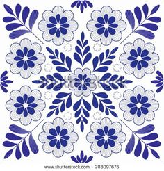 Vector Mexicanos Beautiful hungarian folk art motif - buy this stock vector on Shutterstock & fin. Cushion Embroidery, Floral Embroidery Patterns, Embroidery Motifs, Hand Embroidery Designs, Flower Patterns, Quilt Patterns, Motif Vector, Vector Pattern, Mundo Hippie