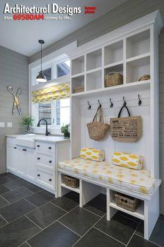 My dream homemaker studio - laundry/sewing/blogging/mud room