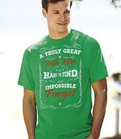 Mens St. Patricks Day 'A Truly Great Irish Man' Ireland Paddys Day Tshirt…