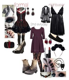"""""""creepypasta oc) demonic dellie's outfits"""" by phoebecoffs-1 on Polyvore featuring art"""