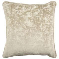 John Richard Textured Solid Grey Brown Pillow