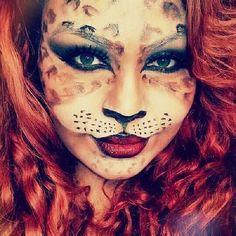 #Halloween #make up #costume#cat #lion