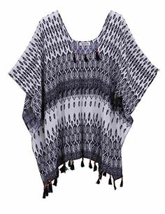 Women's Summer Viscose Hand Made Tassel Beachwear Cover-up Poncho Soul Young