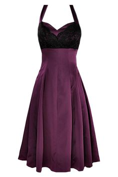 Shown in Plum & Black. Satin available in any colour, lace in red, pink, navy, ivory, green, white or black. £165
