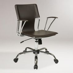 One of my favorite discoveries at WorldMarket.com: Espresso Ethan Office Chair- justin