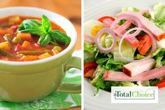 Total Choice Chef Salad and Soup : Make this healthful take on a classic for lunch as part of the Total Choice 1600-calorie plan.