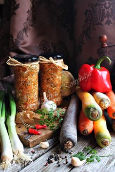 looks like this can be fermented Hungarian Cuisine, Hungarian Recipes, Pickling Cucumbers, Tomato Vegetable, Pickle Relish, Vegetable Seasoning, Gourmet Gifts, Pickles, Vegan Recipes