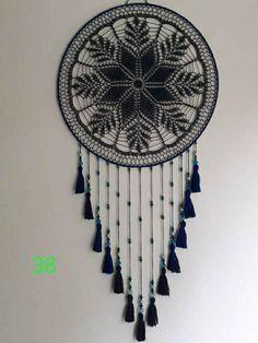 Crochet Art, Crochet Home, Crochet Doilies, Dream Catcher Patterns, Dream Catcher Decor, Macrame Patterns, Crochet Patterns, Crochet Dreamcatcher, Yarn Bombing