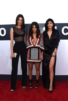 Kim Kardashian West with sisters Kendall & Kylie Jenner