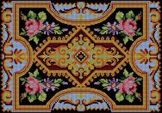 PŘEDLOHY PDF VYŠÍVÁNÍ KŘÍŽKOVÝM STEHEM NA POLŠTÁŘE - cross-stitch embroidered PDF on the pillow download pdf Cross Stitch Pillow, Cross Stitch Borders, Cross Stitch Flowers, Cross Stitch Patterns, Best Roses, Rugs On Carpet, Needlepoint, Diy And Crafts, Projects To Try