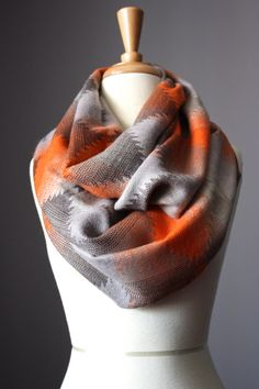 Native infinity scarf, Indian scarf, tribal scarf,  chunky winter scarf, handmade scarf, Ethnic scarf