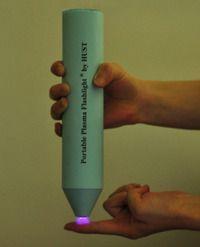 Portable plasma flashlight kills bacteria in minutes.